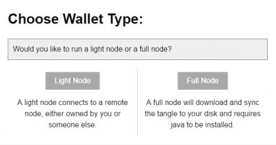 IOTA Wallet Types